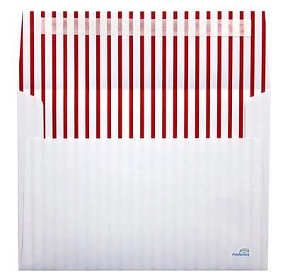 LUX A7 Printeriors (5 1/4 x 7 1/4) 500/Box, Red Lines (PRT4880-RLNS500)