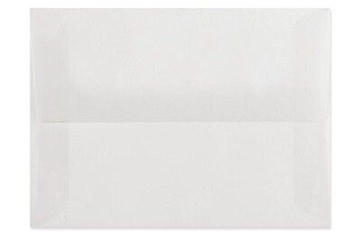 LUX A8 Invitation Envelopes (5 1/2 x 8 1/8) 500/Box, Clear Translucent (4885-00-500)