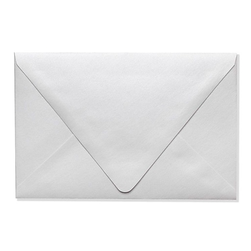 "LUX® 5 3/4"" x 8 3/4"" 80lbs. Contour A7 Invitation Envelopes W/Glue; Crystal Metallic, 50/Pack"