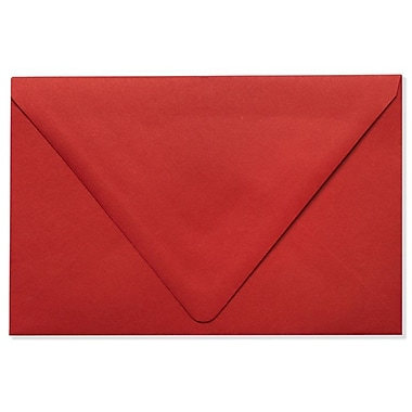 LUX A9 Contour Flap Envelopes (5 3/4 x 8 3/4), Ruby Red, 50/Box (EX-1895-18-50)