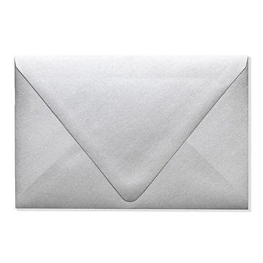 LUX A9 Contour Flap Envelopes (5 3/4 x 8 3/4) 250/Box, Silver Metallic (1895-06-250)
