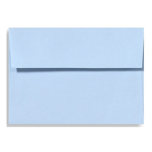 "LUX® 5 3/4"" x 8 3/4"" 70lbs. A9 Invitation Envelopes W/Peel & Press, Baby Blue, 50/Pack"