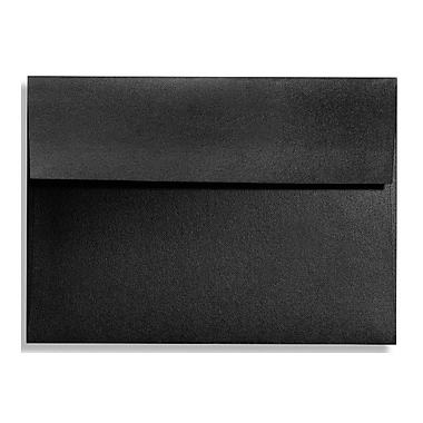 LUX A9 Invitation Envelopes (5 3/4 x 8 3/4) 50/Box, Black Satin (FA4895-01-50)