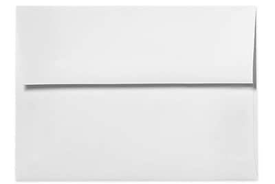 "LUX® 5 3/4"" x 8 3/4"" 80lbs. A9 Invitation Envelopes W/Peel & Press, Bright White"