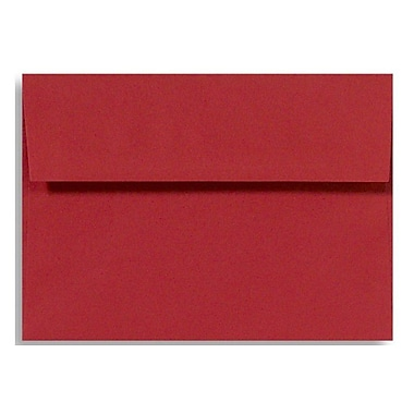 LUX A9 Invitation Envelopes (5 3/4 x 8 3/4) 50/Box, Holiday Red (14257-50)