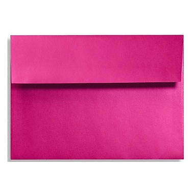 LUX A9 Invitation Envelopes (5 3/4 x 8 3/4) 50/Box, Hottie Pink (FA4895-04-50)