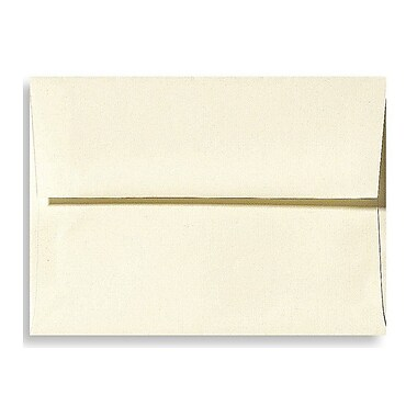 LUX A9 Invitation Envelopes (5 3/4 x 8 3/4) 50/Box, Natural Linen (4895-NLI-50)