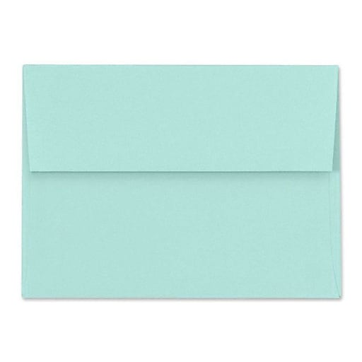 "LUX® 5 3/4"" x 8 3/4"" 80lbs. A9 Invitation Envelopes W/Peel & Press, Seafoam Blue"