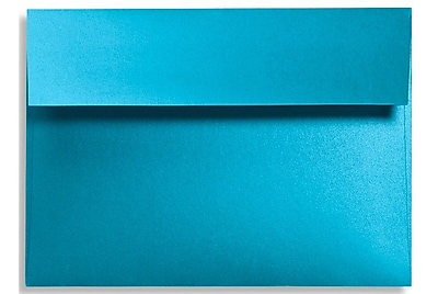 LUX A9 Invitation Envelopes (5 3/4 x 8 3/4) 50/Box, Trendy Teal (FA4895-07-50)