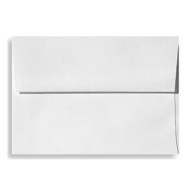 LUX A9 Invitation Envelopes (5 3/4 x 8 3/4) 50/Box, White Linen (4895-WLI-50)