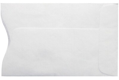 LUX Credit Card Sleeve (2 1/4 x 3 1/2) 50/Box, 14lb. Tyvek (PC1801PL-50)
