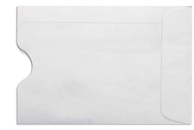 LUX Credit Card Sleeve (2 3/8 x 3 1/2) 50/Box, 24lb. White (1801-W-50)