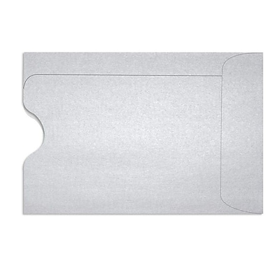 LUX Credit Card Sleeve (2 3/8 x 3 1/2) 50/Box, Silver Metallic (1801-06-50)