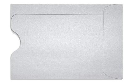LUX Credit Card Sleeve (2 3/8 x 3 1/2) 50/Box, Silver Metallic (1801-06-50)