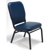 KFI Seating Vinyl Stack Chair, Navy