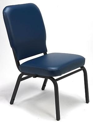 KFI Seating Vinyl Stack Chair, Navy