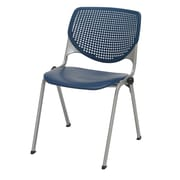 KFI Seating Polypropylene Stack Chair With Perforated Back, Navy