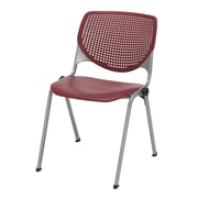 KFI Seating Polypropylene Stack Chair With Perforated Back, Burgundy