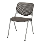 KFI Seating Polypropylene Stack Chair With Perforated Back, Brownstone