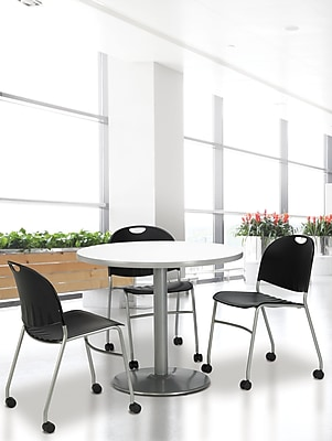 KFI Seating Steel Reception Chair, Black, 4/Carton (CS2100SL)