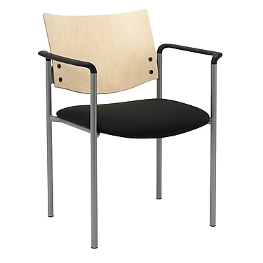 KFI Seating Steel Guest Chair, Black, 2/Carton (1311SL-S22-2902)