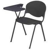 KFI Seating Polypropylene Chair With Right Hand P-Shaped Writing Tablet, Charcoal