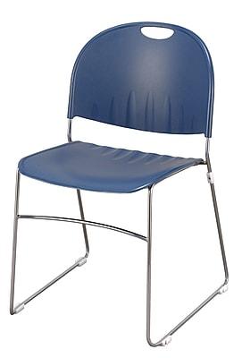KFI Seating Polypropylene Sled Base Stack Chair, Navy