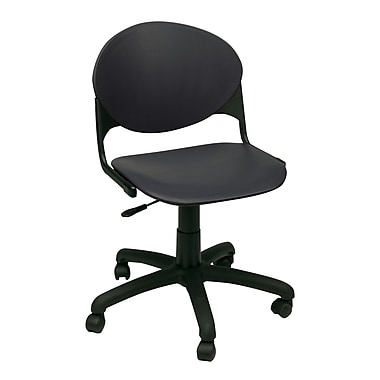 KFI Seating Plastic Computer and Desk Office Chair, Armless, Charcoal (TK2000-P01)