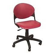 KFI® Seating Polypropylene Task Chair, Burgundy, 2/Ct
