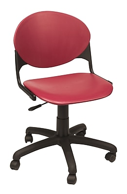 KFI Seating Plastic Computer and Desk Office Chair, Armless, Burgundy (TK2000-P07)
