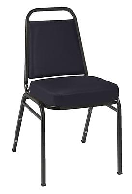 KFI Seating Vinyl Stack Chair With Black Frame, Black