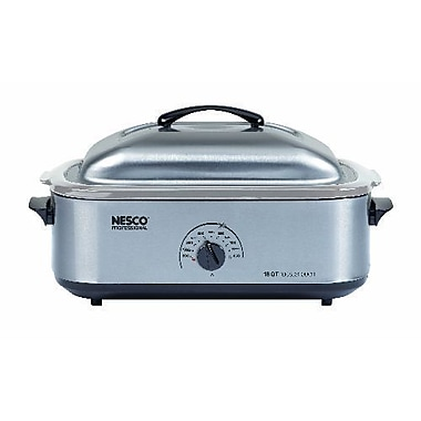 Nesco® 18 Quart Stainless Steel Cookwell Roaster Oven