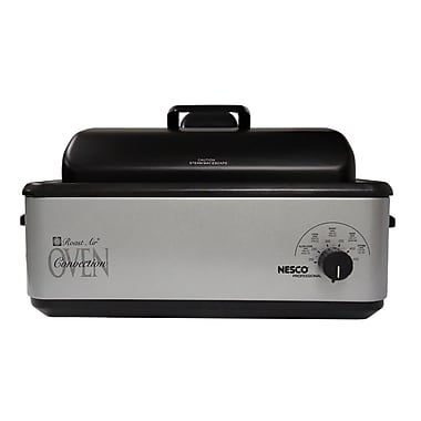 Nesco® Professional 12 Quart Porcelain Cookwell Convection Roaster Oven, Silver