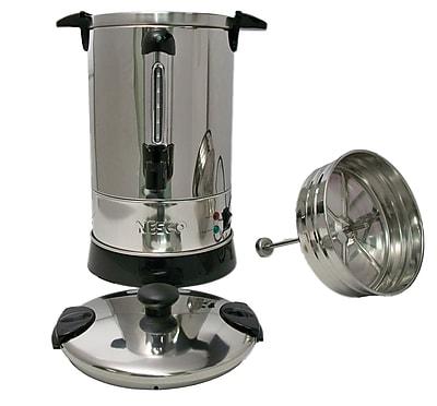 Nesco 950W 57 oz. 30 Cup SS Double Wall Coffee Urn, Steel 280892
