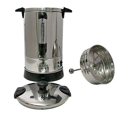 Nesco® 950W 57 oz. 30 Cup SS Double Wall Coffee Urn, Steel