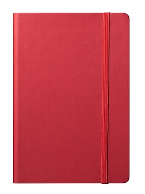 Eccolo™ Faux Leather Medium Cool Jazz Journal, Red