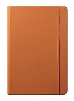 Eccolo™ Faux Leather Medium Cool Jazz Journal, Orange