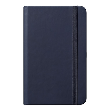 Eccolo™ Faux Leather Small Cool Jazz Pocket Journal, Navy Blue