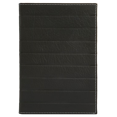 Eccolo™ Leather Art Deco Journal, Black