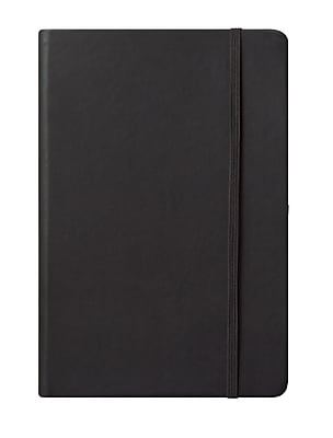 Eccolo™ Faux Leather Medium Cool Jazz Journal, Black