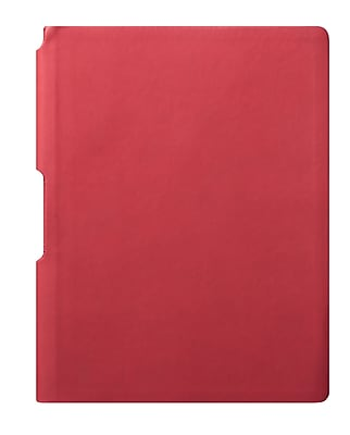 Eccolo™ Faux Leather Groove Jazz Desk Journal, Red