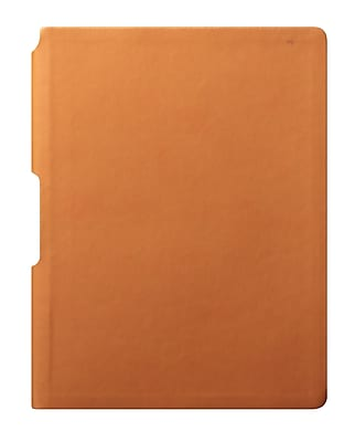 Eccolo™ Faux Leather Groove Jazz Desk Journal, Orange