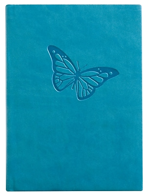 Eccolo™ Italian Faux Leather Butterfly Essential Collection Journal, Turquiose