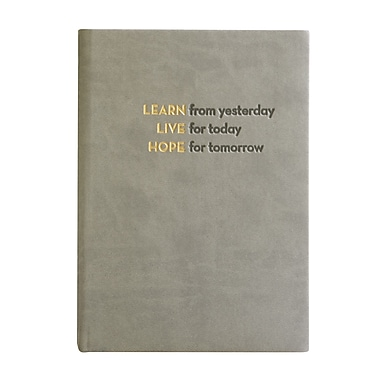 Eccolo™ Italian Faux Leather Learn, Live, Hope Journal, Gray