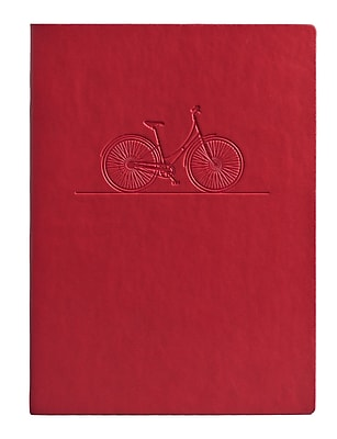 Eccolo™ Faux Leather Bicycle Journal, Red