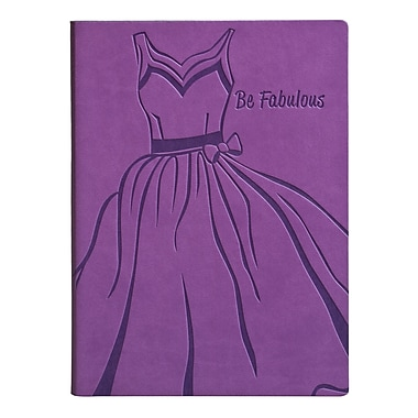 Eccolo™ Italian Faux Leather Be Fabulous Journal, Purple