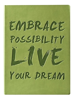 Eccolo™ Italian Faux Leather Embrace Possibility Journal, Green