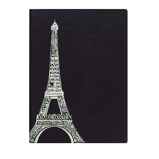 Eccolo™ Faux Leather Eiffel Tower Journal, Black