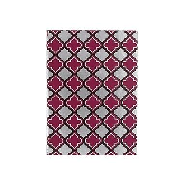 Eccolo™ Faux Leather Morrocan Tile Journal, Purple/Silver