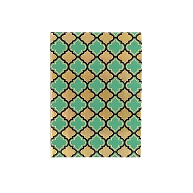 Eccolo™ Faux Leather Morrocan Tile Journal, Green/Gold